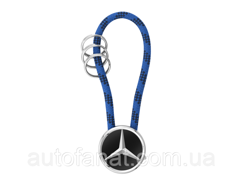 Оригинальный брелок Mercedes-Benz Key Ring, Mumbai, Black/Silver/Blue (B66956755)