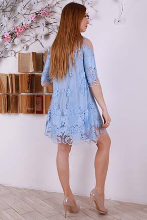 Красивое короткое шикарное платье с изумительной вышивкой 44-46., фото 3