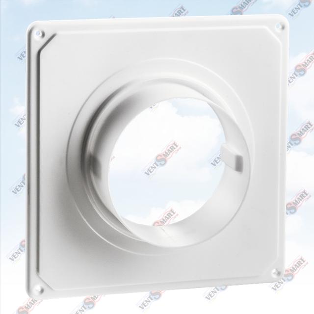 Внешний вид соединителя настенного вентиляционного Домовент ДФК