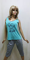 Пижама женская майка и бриджи хлопок 226