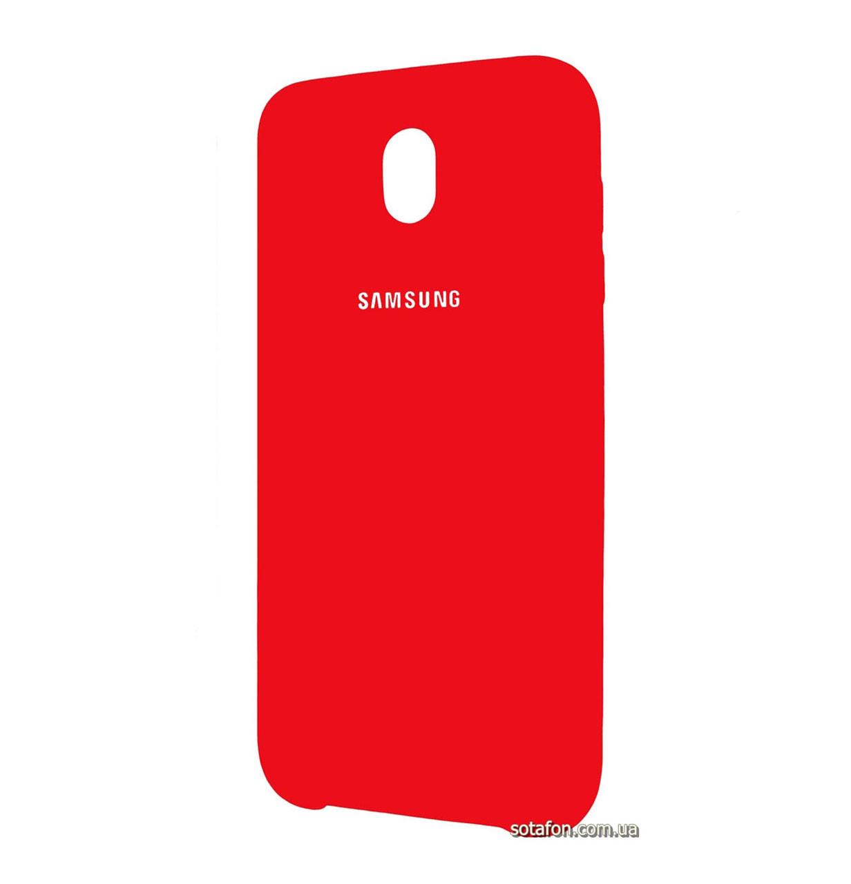 Чехол-накладка Original Silicone case на Samsung Galaxy J3 (2017) SM-J330F Red