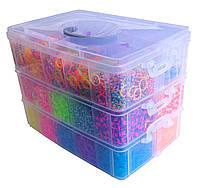 Огромный набор Резиночек для плетения браслетов Rainbow Loom bands 12000 шт