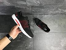 Летние мужские кроссовки Under Armour Hovr,сетка,черные с красным 46р, фото 3