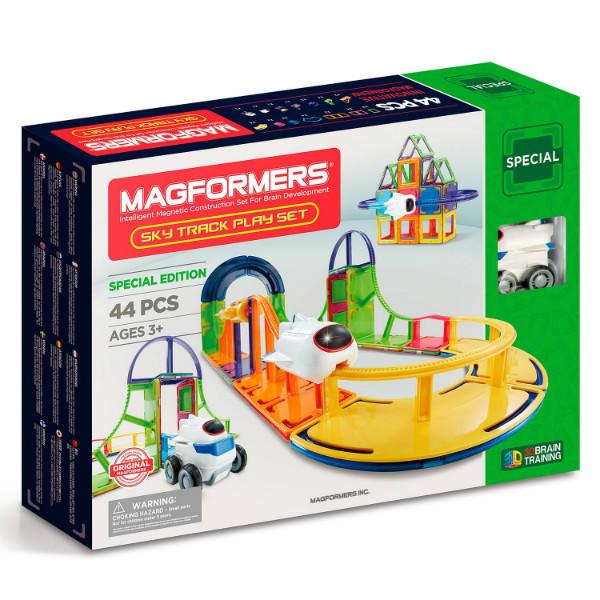 Magformers Магнитный конструктор 54 детали трек 799013 Sky Track 54Pc Set