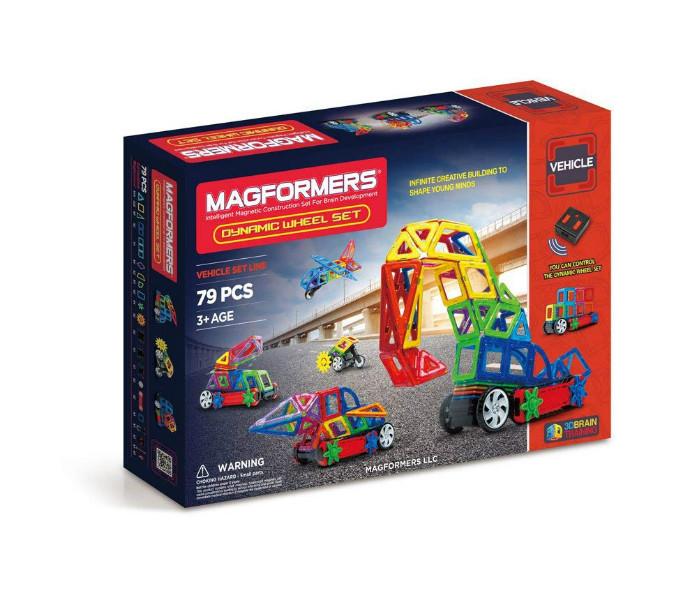 Magformers Магнитный конструктор 79 деталей Динамические колеса 63116 Vehicles Dynamic Wheel Set