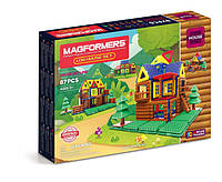 Magformers Магнитный конструктор 87 деталей Мой домик в лесу 05004 Log Cabin Toy Set, фото 1