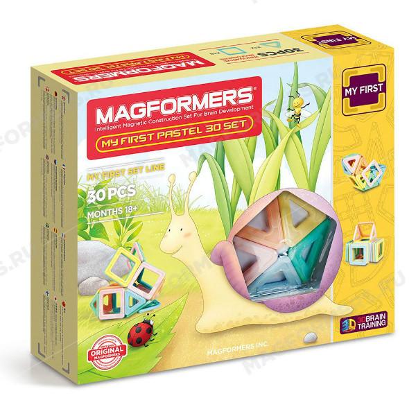 Magformers Магнитный конструктор 30 деталей Мой первый набор 02013 My First Pastel set
