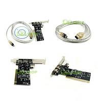 PCI IEEE 1394 3 (6 pin) + 1 (4 pin) fireware VIA