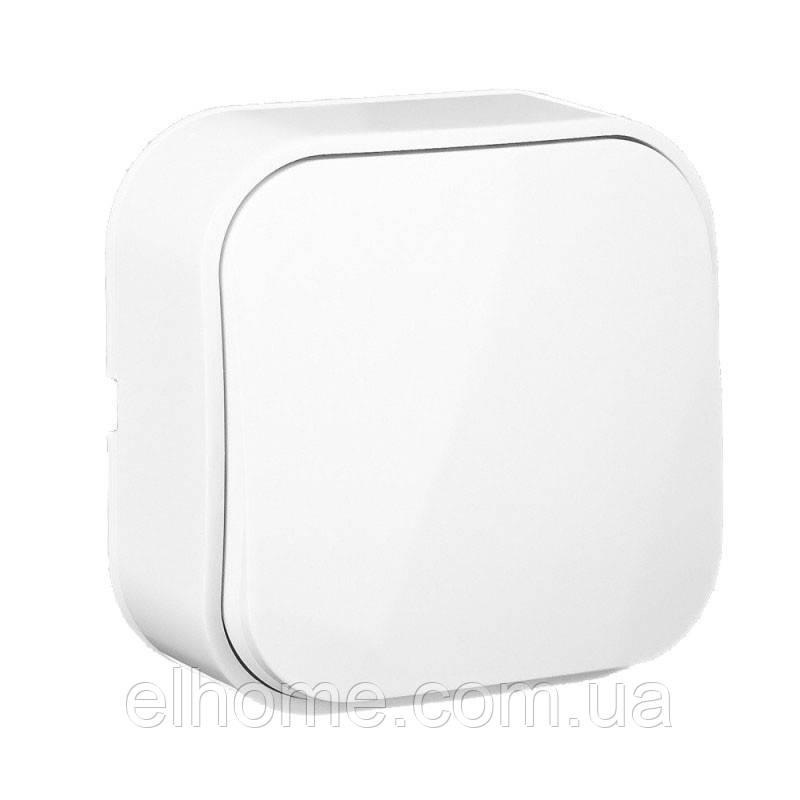 Вимикач одноклавішний зовнішній Lectris  білий