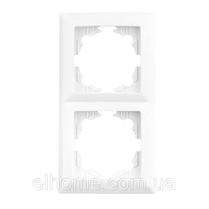 Рамка двомісна, горизонтальна, Lectris  біла
