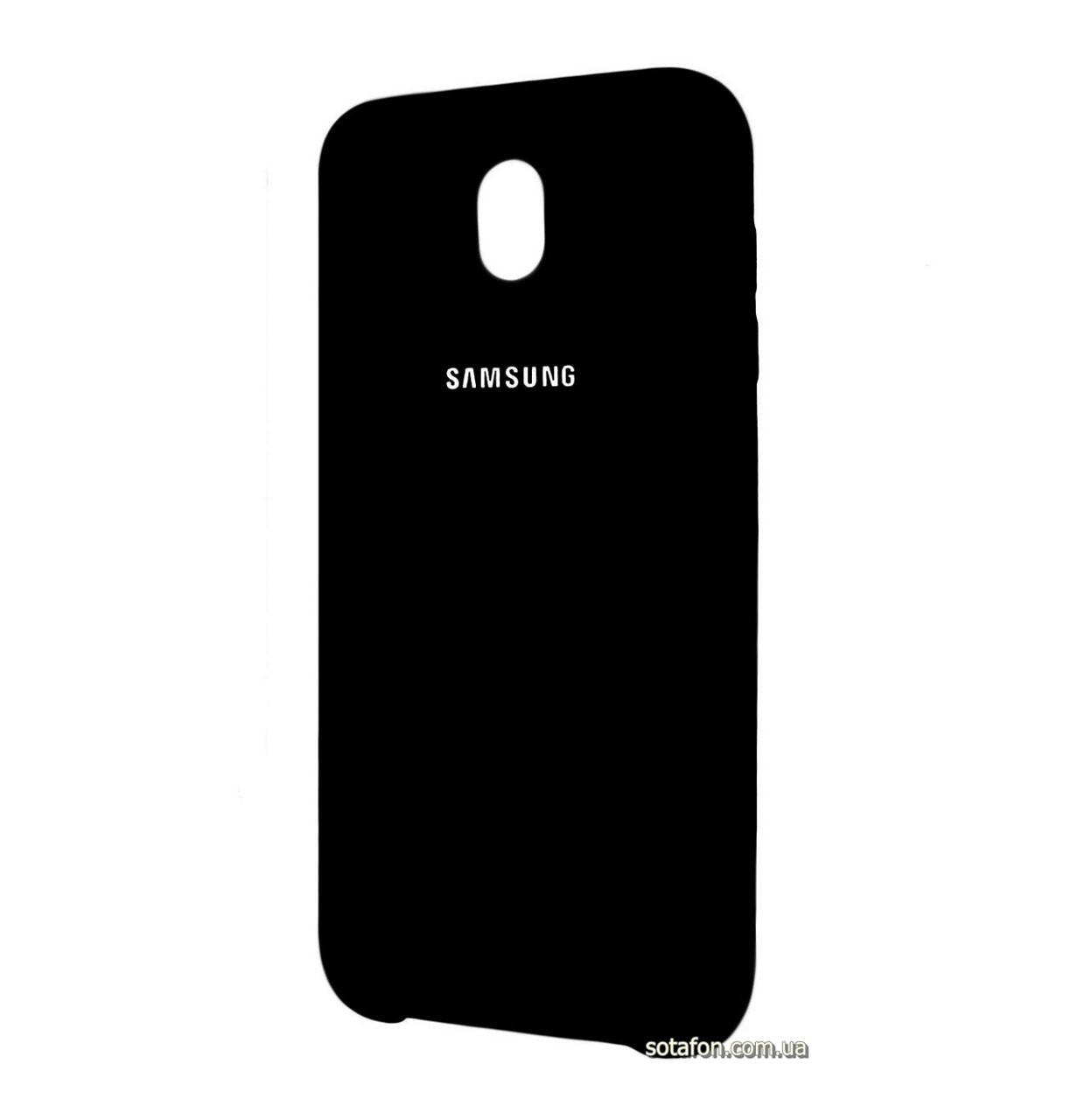 Чехол-накладка Original Silicone case на Samsung Galaxy J3 (2017) SM-J330F Black