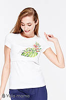 Облегающая футболка для кормящих мам DEMI NR-29.092, молочная., фото 1
