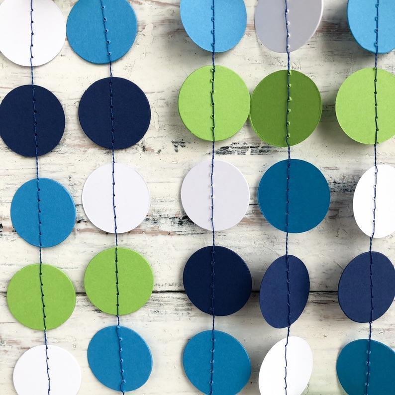 Паперова гірлянда коло (фігура 6см, щільність картону 160-170 гр/м3)