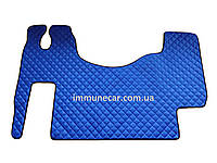 Ковры из эко-кожи MERCEDES ACTROS MP 2-3 синего цвета в кабину