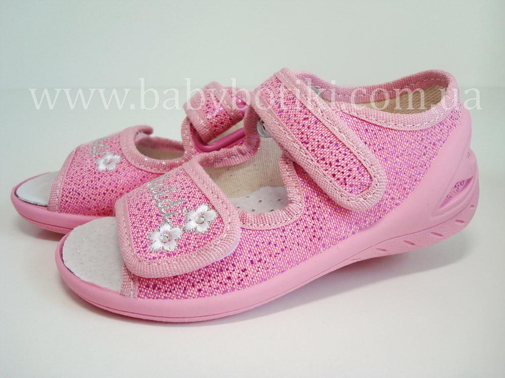 Розовые тапочки босоножки Waldi.