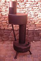 Печка - теплушка большая работающая на отработанном масле (отработке), фото 1