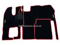 Авто ковры велюровые RENAULT MAGNUM  в кабину красные