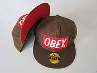 Кепка Obey Snapback Brown-Red