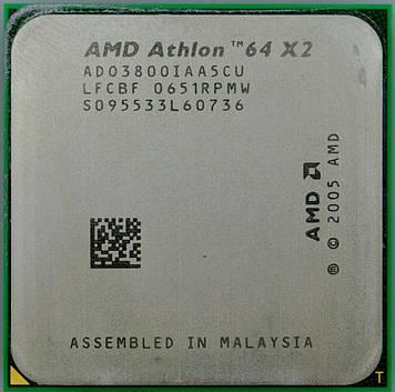 Процессор AMD Athlon 64 X2 3800+ 2.0GHz/1M/2000 (ADO3800IAA5CU) sAM2, tray