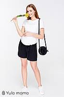 Короткие шорты для беременных легкие черные