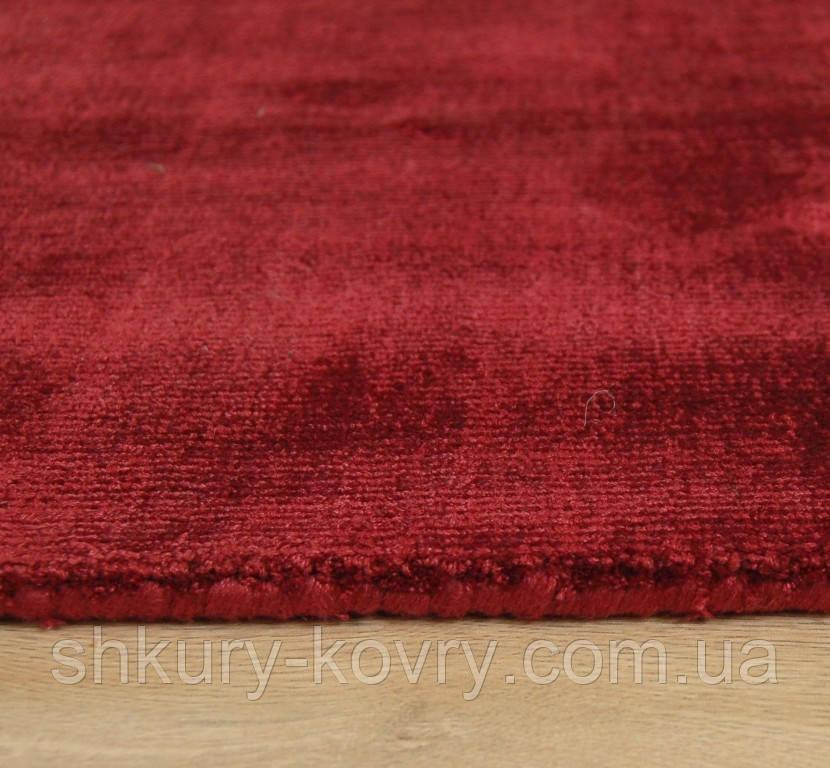 Красный ковер, ковры под шелк из вискозы, однотоные толстые ковры