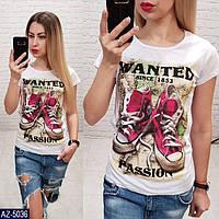 Стильные женские футболки. Турция. Размер 42, 44, 46, фото 1