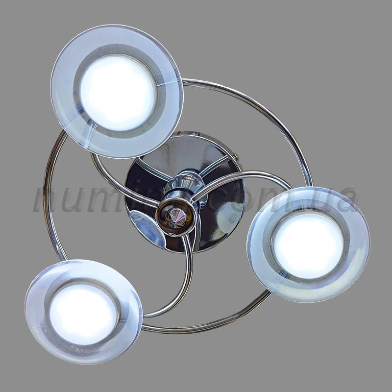 Люстра стельова LED на 3 лампи MD-LA4105-3CR LED