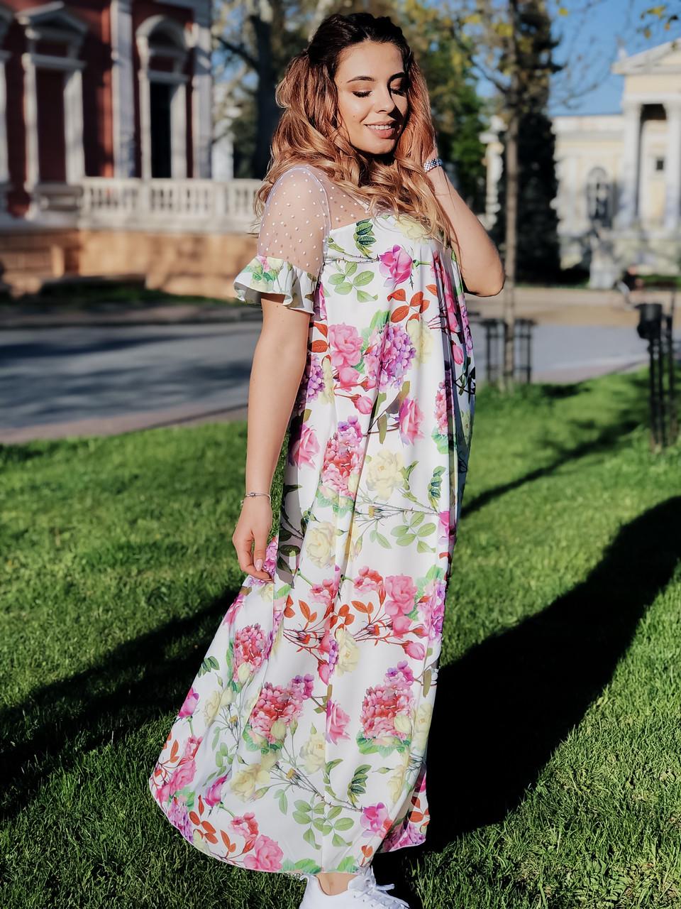 Платье Цветы 04029