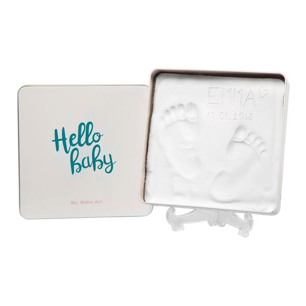Baby Art - Магическая коробочка Квадратная для отпечатка ладошки и ножки