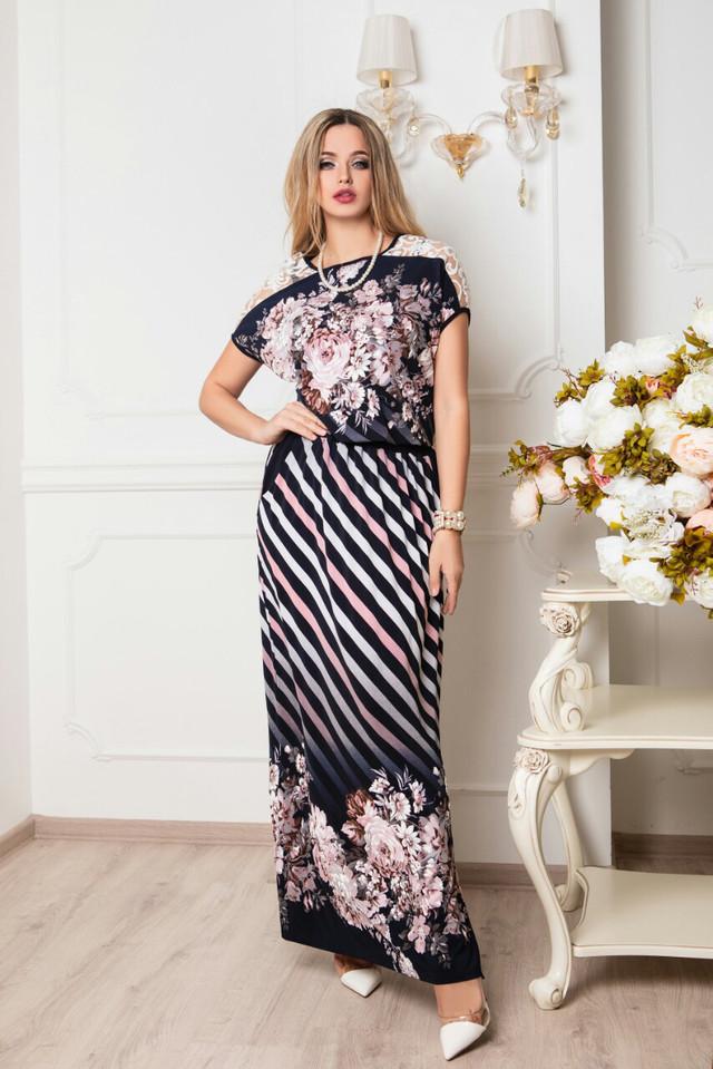 Цвет-16 Длинного ботального летнего платья Ирма