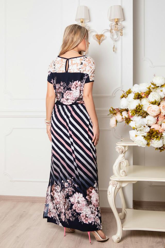 Фото-2 Длинного ботального летнего платья Ирма-12