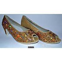 Нарядные, праздничные туфли для девочки 34 размер (22.7 см), на выпускной, утренник, 105-315-17