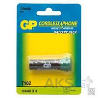 Аккумулятор для радиотелефона GP T102 3,6v 180mAh Cd