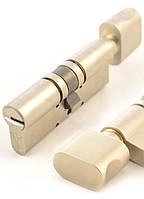 Цилиндр MUL-T-LOCK MT5+ 76 мм 43x33 ключ/тумблер никель сатин, фото 1
