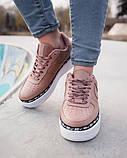 Женские кроссовки Nike Air Force 1 Ribbon Pack 'Pink' (Premium-class) розовые, фото 3