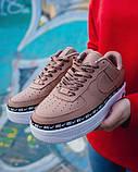Женские кроссовки Nike Air Force 1 Ribbon Pack 'Pink' (Premium-class) розовые, фото 5