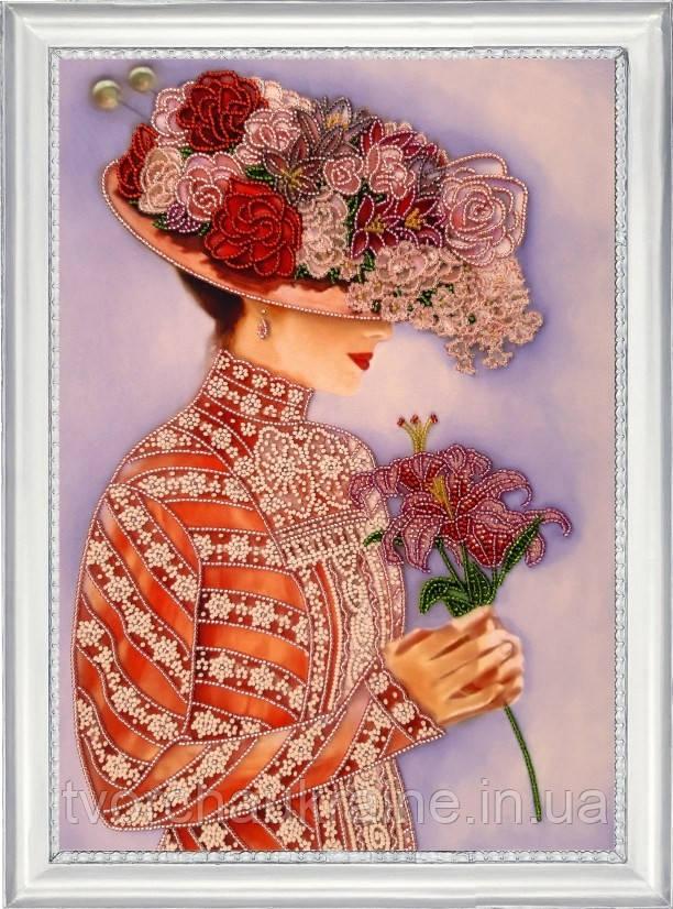 """Набор для вышивки бисером """"Дама с лилиями"""""""