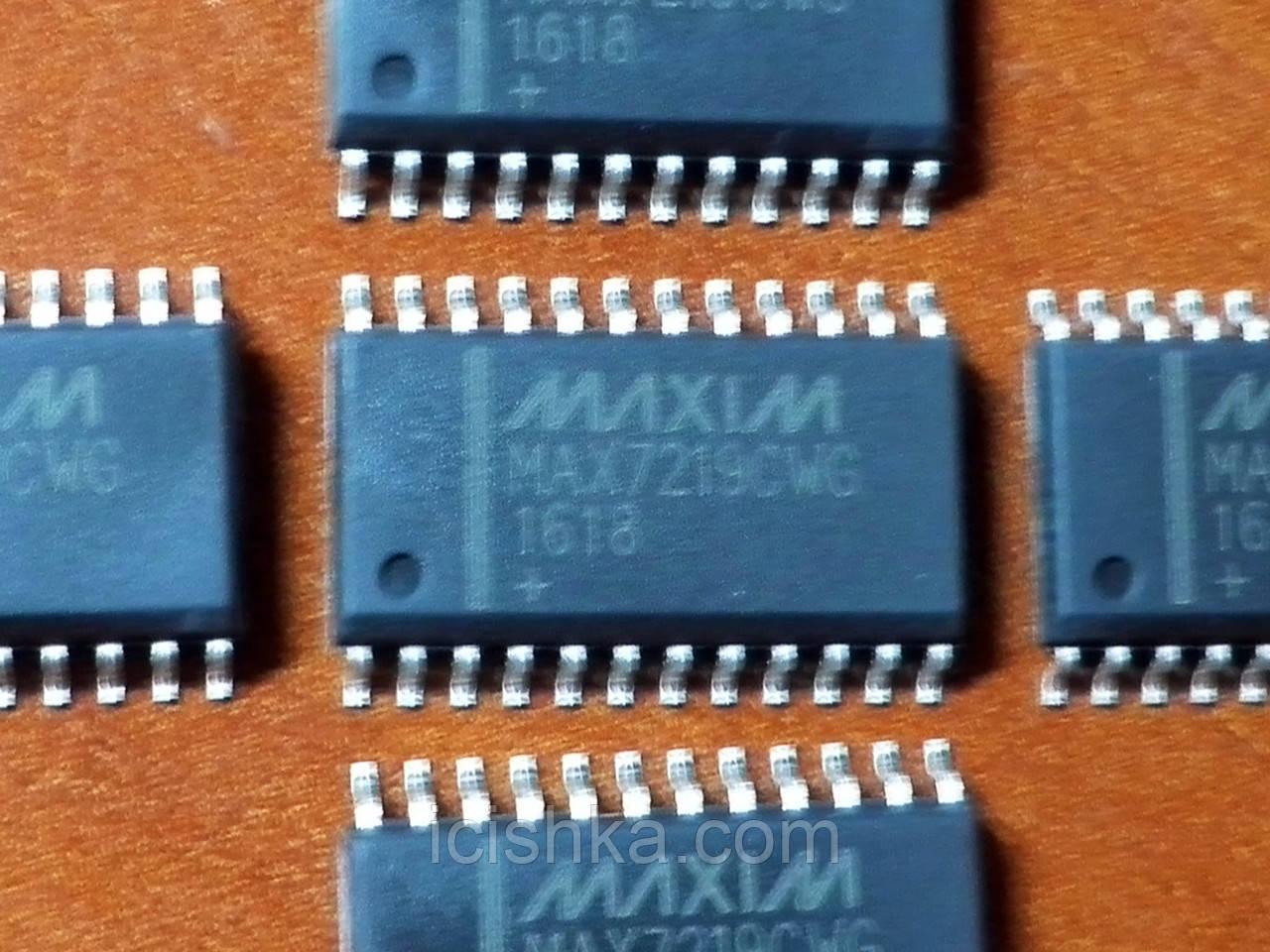 MAX7219CWG SOP24 - драйвер 8-сегментного светодиодного индикатора