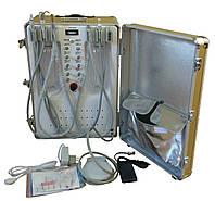 Стоматологическая установка портативная с встроенным скалером и компрессором. P25
