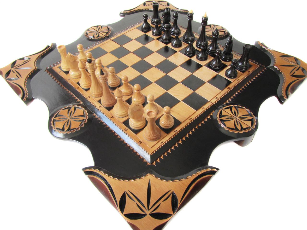 Набор с играми,шахматы-нарды-шашки ручной работы