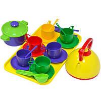 Детский набор посуды с кастрюлей 0309 Юника