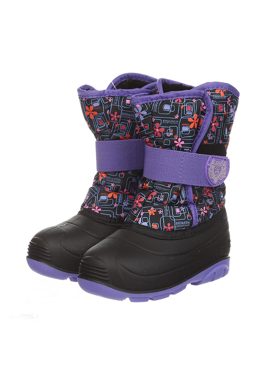 Ботинки Kamik SNOWBUG4 черно-розовый
