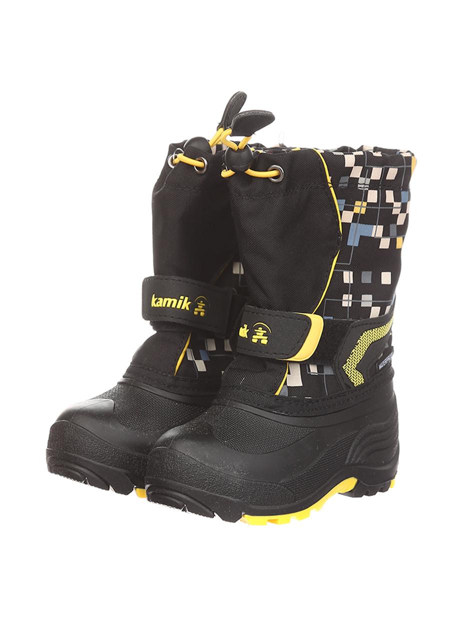 Ботинки Kamik SNOWBANK2 черно-жёлтый