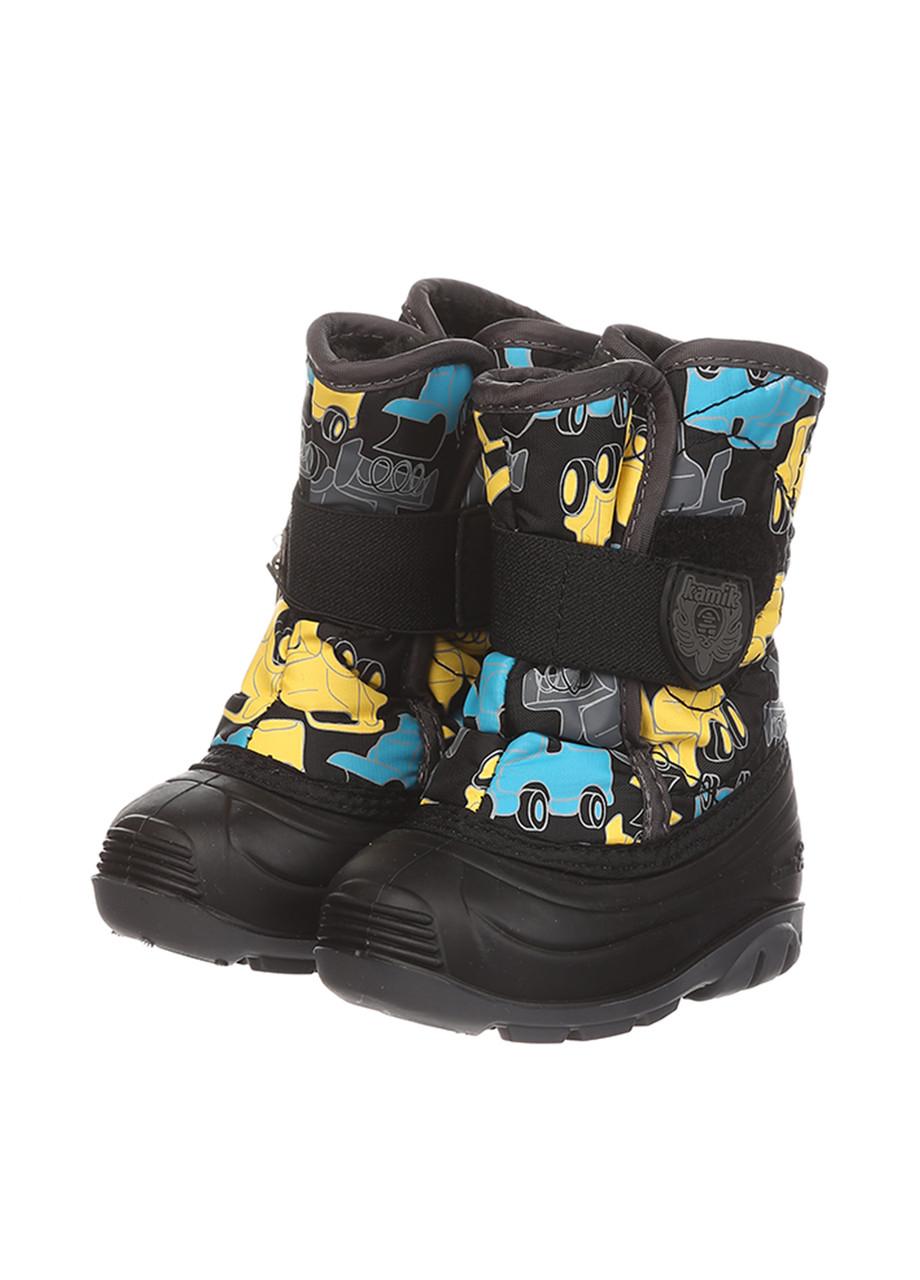 Ботинки Kamik SNOWBUG4 черно-жёлтый