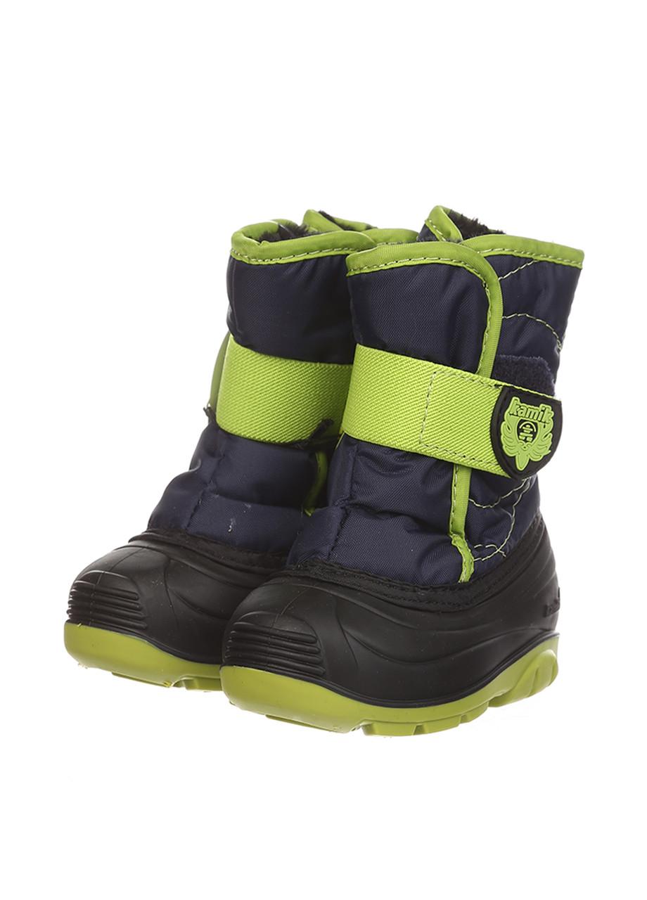 Ботинки Kamik SNOWBUG3 темно-синий/лаймовый
