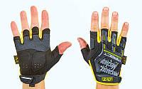 Перчатки тактические с открытыми пальцами MECHANIX BC-5628-BY (р-р M-XL, черный-желтый) M