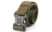 Пояс тактический Tactical Belt TY-6841 (нейлон, метал. пряжка, р-р-120*3,5см, цвета в ассортименте) Оливковый
