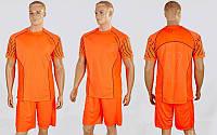 Футбольная форма подростковая Match (XS-L-от 8 до 14лет, рост 135-170см, оранжевый-серый)