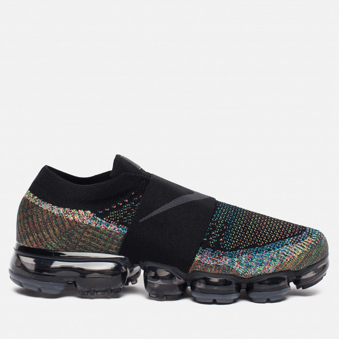 10fb7e13c Мужские кроссовки Nike Air Vapormax Flyknit Laceless 'Black Night', Копия
