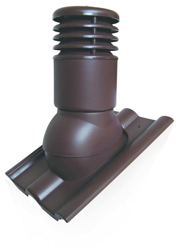 Вентиляционный выход150мм Kronoplast KDBO для бетонной BRAAS, Аляска, и ПП черепицы с колпаком